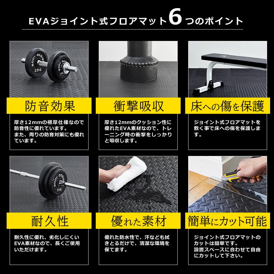 EVAジョイント式フロアマット6つのポイント